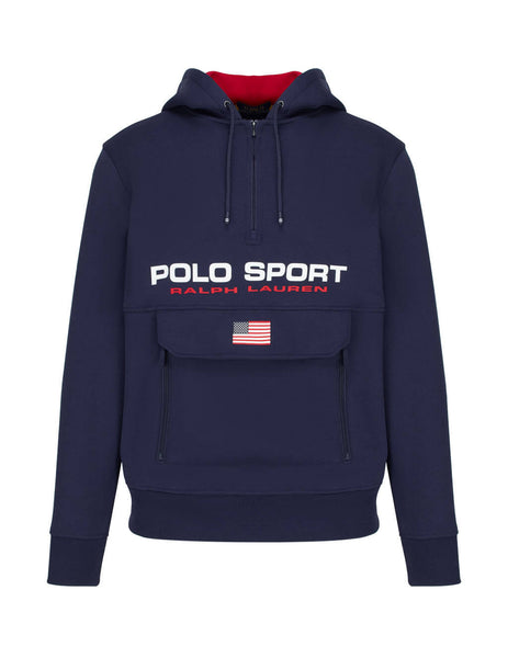 Polo Ralph Lauren Men's Cruise Navy Polo Sport Double-Knit Hoodie 710790860001