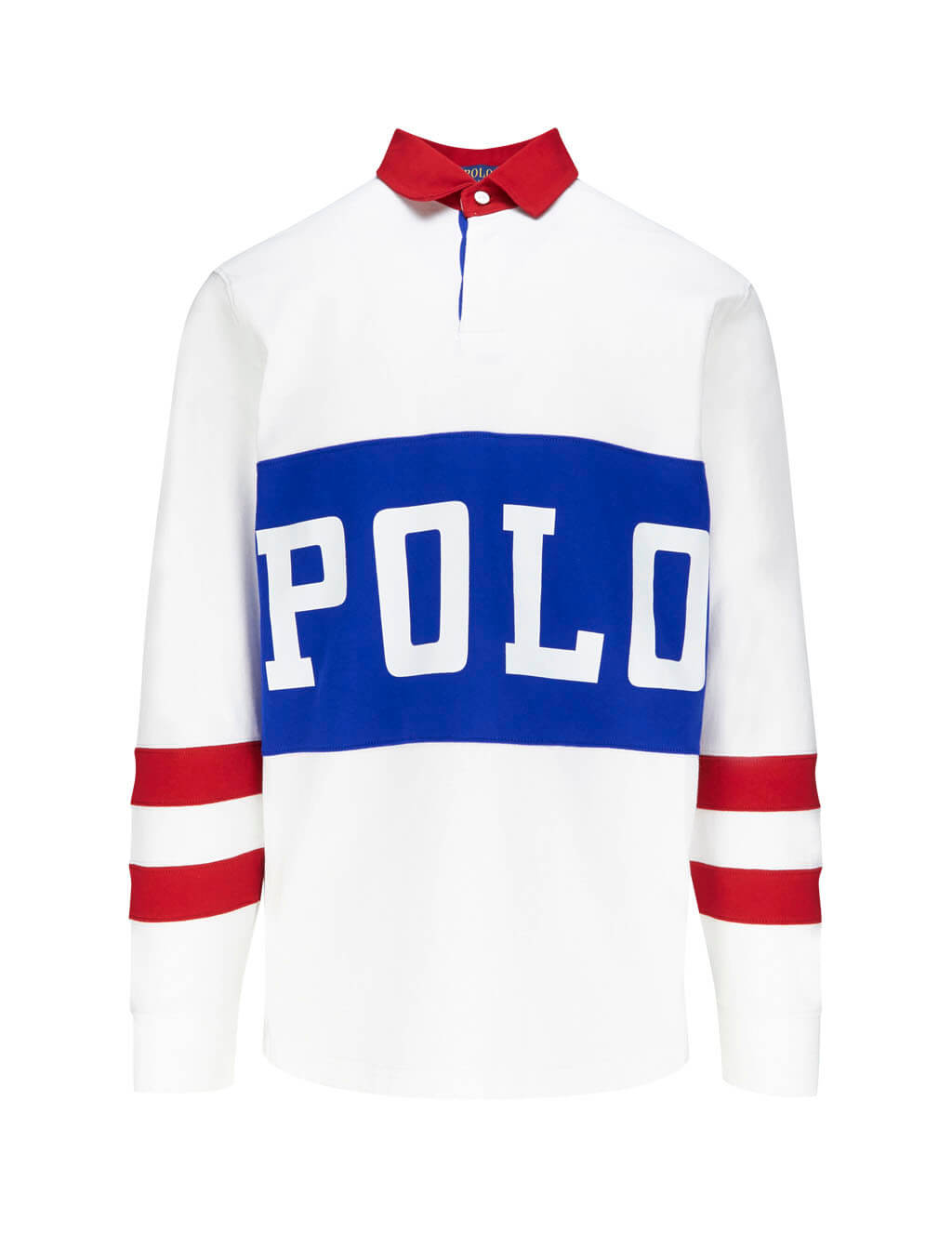 Polo Ralph Lauren Men's Giulio Fashion White Polo Track Rugby Shirt 710746482001