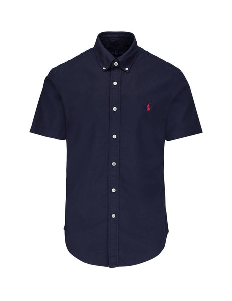 Polo Ralph Lauren Men's RL Navy Short Sleeve Oxford Shirt 710795382001