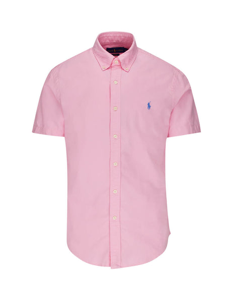 Polo Ralph Lauren Men's Taylor Rose Pink Short Sleeve Oxford Shirt 710795382009