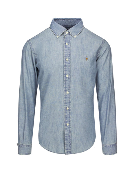 Polo Ralph Lauren Men's Giulio Fashion Chambray Slim-Fit Chambray Shirt 710548538001