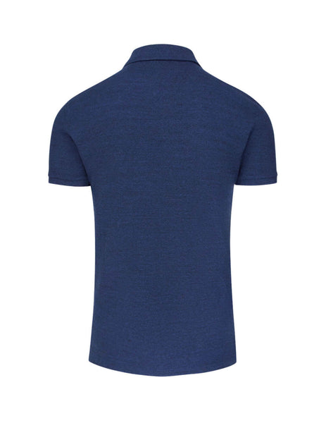 Polo Ralph Lauren Men's Giulio Fashion Blue Slim Fit Mesh Polo Shirt 710536856101