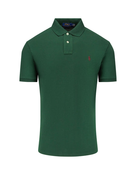 Polo Ralph Lauren Men's Giulio Fashion Green Slim Fit Mesh Polo Shirt 710536856121