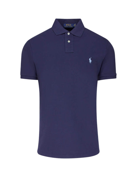 Polo Ralph Lauren Men's Giulio Fashion Navy Slim Fit Mesh Polo Shirt 710548797010