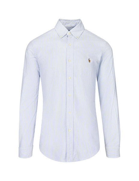 Polo Ralph Lauren Men's Giulio Fashion BSR Blue/White Slim Fit Oxford Shirt 710549084009