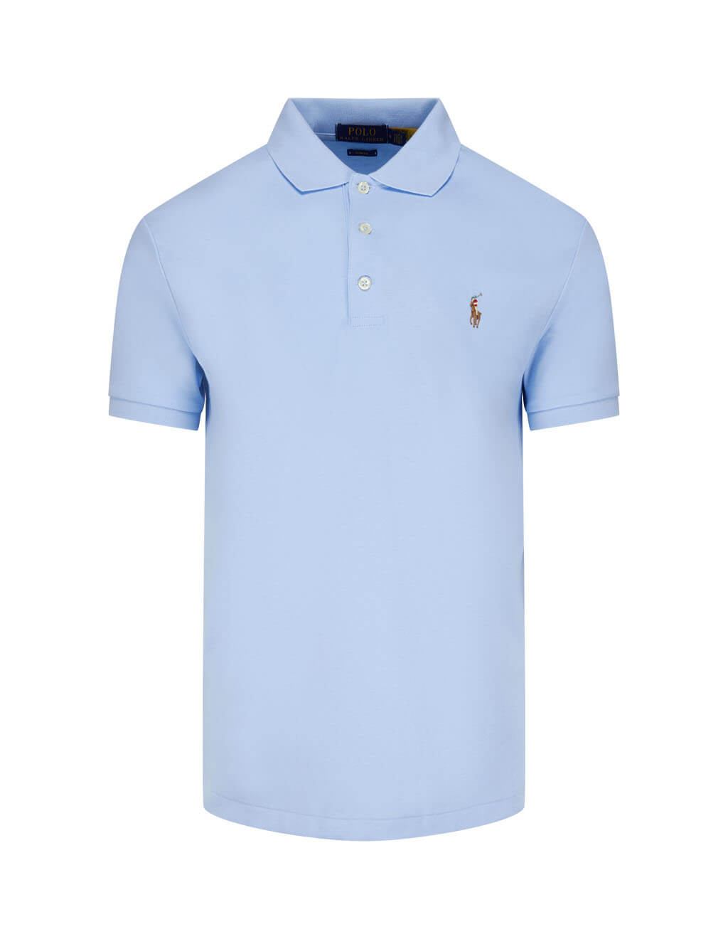 Men's Polo Ralph Lauren Slim Fit Soft Touch Polo Shirt in Light Blue 710685514004