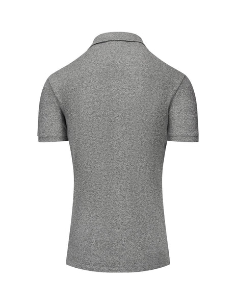 Men's Polo Ralph Lauren Slim Fit Mesh Polo Shirt in Canterbury Heather Grey. 710548797011