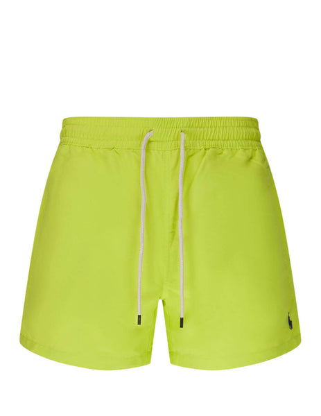 Polo Ralph Lauren Men's Giulio Fashion Bright Pear Slim Traveller Swim Shorts 710795016004