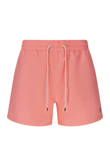 Polo Ralph Lauren Men's Giulio Fashion Faded Neon Pink Slim Traveller Swim Shorts 710795016003