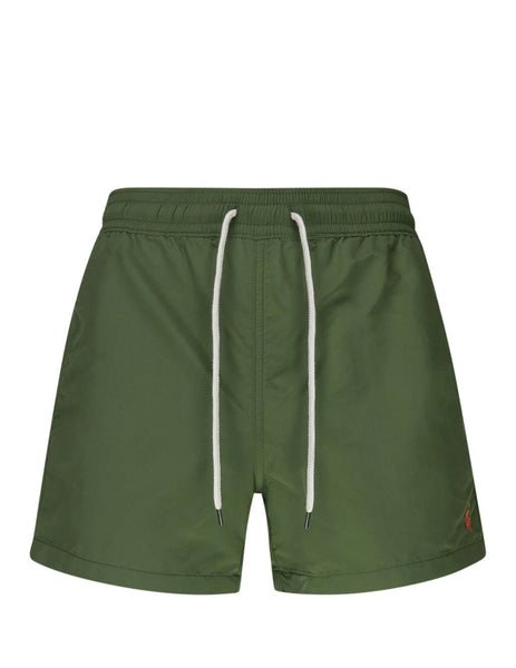 Polo Ralph Lauren Men's Giulio Fashion Supply Olive Slim Traveller Swim Shorts 710795015001