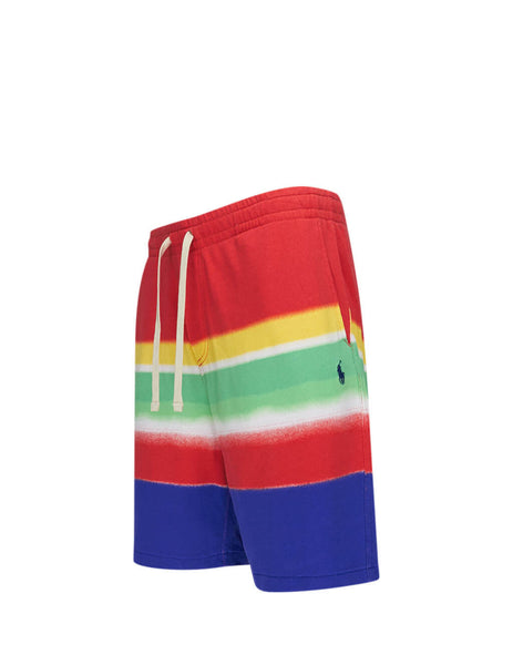 Polo Ralph Lauren Men's Giulio Fashion Red Spectra Striped Spa Terry Shorts 710781398001