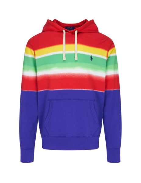 Polo Ralph Lauren Men's Giulio Fashion Blue Spectra Striped Spa Terry Hoodie 710781396001
