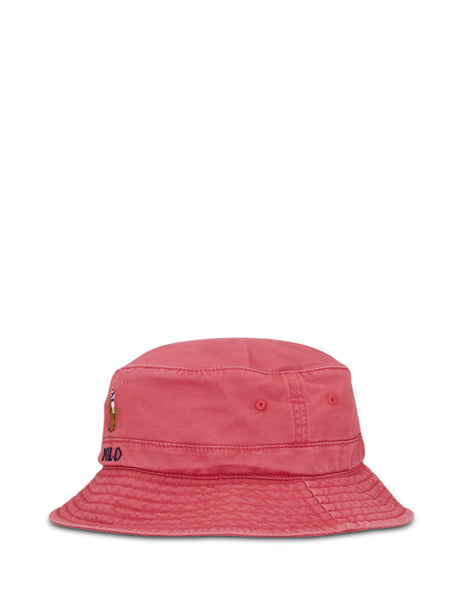 Polo Ralph Lauren Men's Nantucket Red Stretch-Cotton Bucket Hat 710787242002