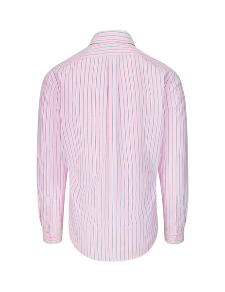 Polo Ralph Lauren Men's Giulio Fashion Pink Striped Sport Shirt 710794612002