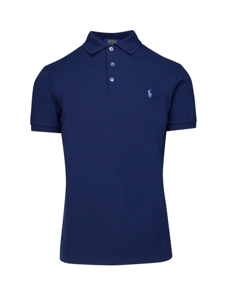Polo Ralph Lauren Men's French Navy Slim Fit Stretch Mesh Polo 710541705009
