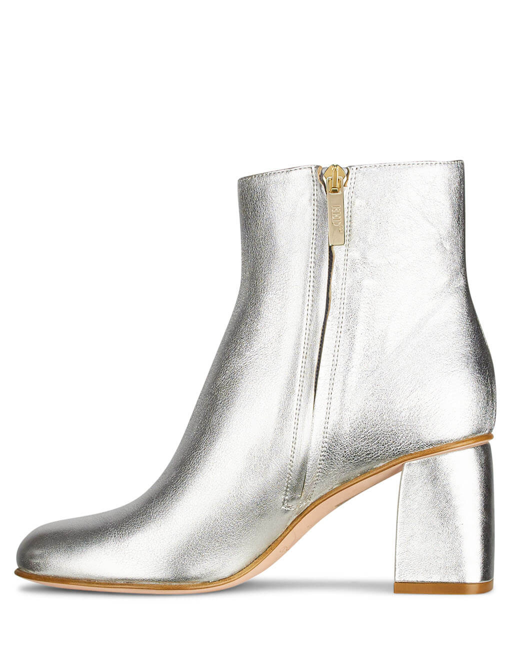 Red Valentino Metallic Silver Leather Booties SQ2S0C76BCGD00