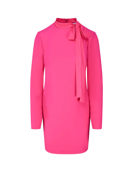Women's Pink REDValentino Collar Detail Double Stretch Crepe Dress UR3VAR3557A FG4