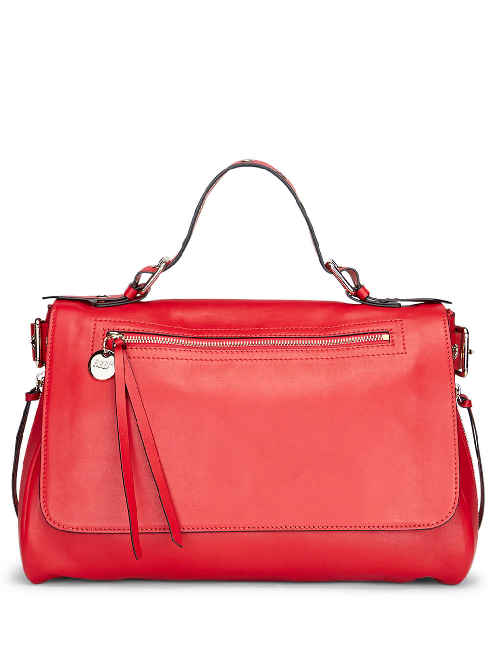 RED(V) Women's Red Leather Bikered Handbag sq2b0b62nzwcc7