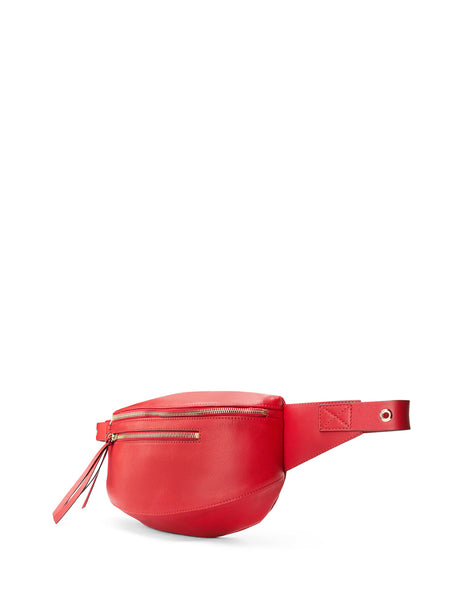RED(V) Women's Giulio Fashion Red Biker Belt Bag SQ2B0B45NZWCC7