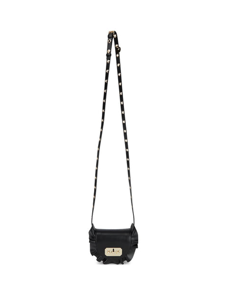 RED(V) Women's Giulio Fashion Black Mini Rock Ruffles Crossbody Bag SQ0B0B7VFV0NO
