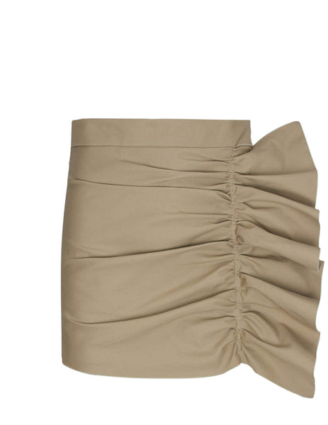 REDValentino Women's Giulio Fashion Beige Armure Tech Shorts TR3RFC304R6 CL4
