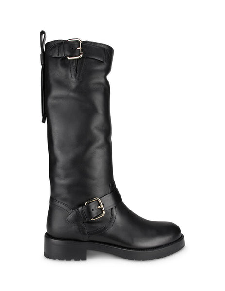 REDValentino Women's Giulio Fashion Black Bikered Boots UQ2S0D95KBB 0NO
