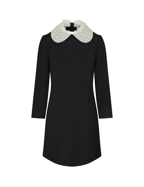 REDValentino Women's Black Cady Tech Dress UR0VAV850VM 0NO