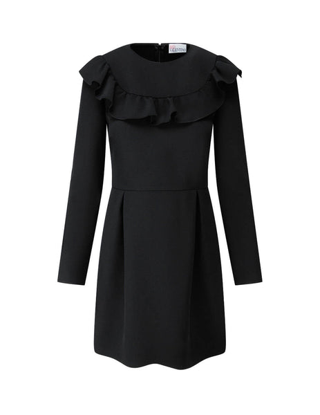 Women's Black REDValentino Crepe Double Stretch Dress UR3VAS555620NO