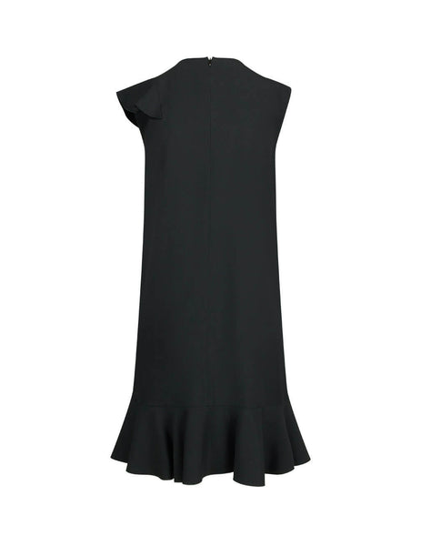REDValentino Women's Giulio Fashion Black Crepe Envers Dress TR3VAL100F10NO