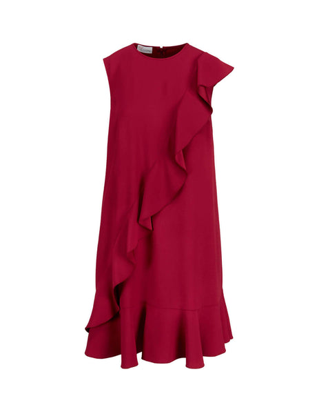 REDValentino Women's Giulio Fashion Currant Crepe Envers Dress TR3VAL100F1 329