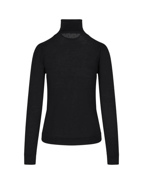 REDValentino Women's Black Dot Insert Jumper UR0KC02A545 0NO