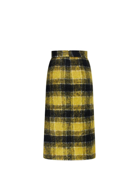 Women's REDValentino Finestrato Skirt in Yellow Topaz/Black. UR0RAF055CUCN6