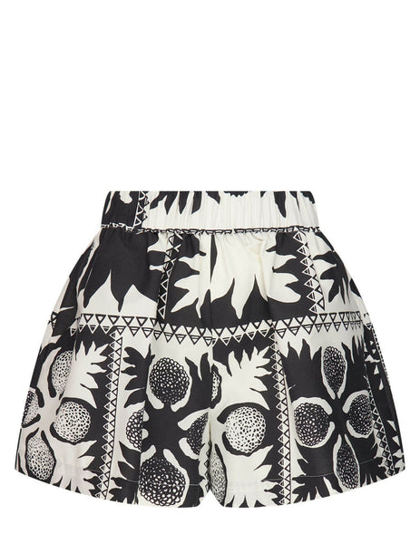 Flower Damier Shorts