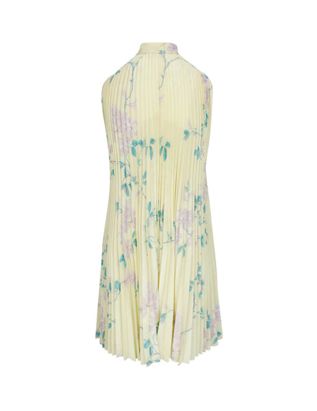 REDValentino Women's Giulio Fashion Pale Yellow Fluid Jasmine Dress TR3VAM204RP R13