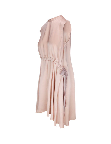 REDValentino Women's Giulio Fashion Pink Fluid Satin Dress TR3VAM05HGA P72