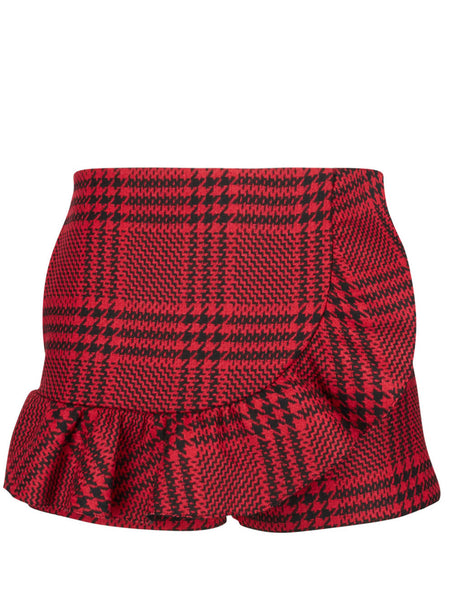 REDValentino Women's Giulio Fashion Red Frill Mini Skort SR0RFB954HJL58