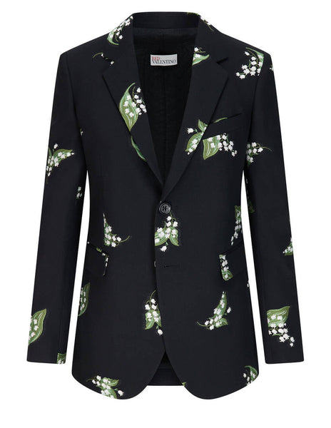 Women's Red Valentino May Lily Jacket in Black - VR3CE00E5M40NO