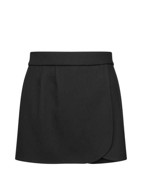 REDValentino Women's Giulio Fashion Black Mini Skort SR0RFB851Y10NO