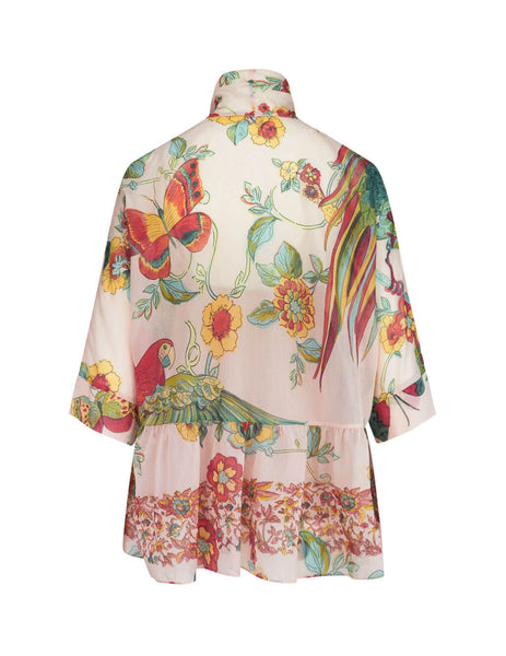 Women's Light Pink REDValentino Nature Blouse TR0ABC84503377