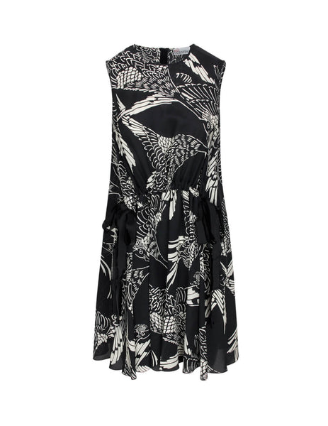 REDValentino Women's Giulio Fashion Black Phoenix Dress TR3VAM054RT 0NO