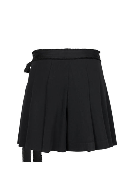 REDValentino Women's Black Pleated Skort sr0rfc152eu0no