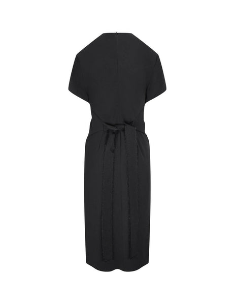 Women's REDValentino Stretch Cady Dress in Black. UR0VAU755DC0NO
