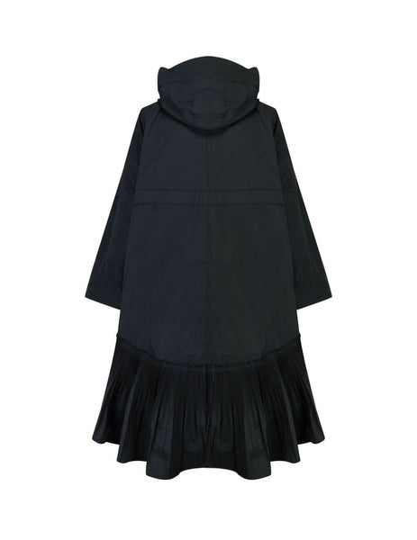 REDValentino Women's Giulio Fashion Black Taffeta Coat Dress TR3CA00B4T10NO