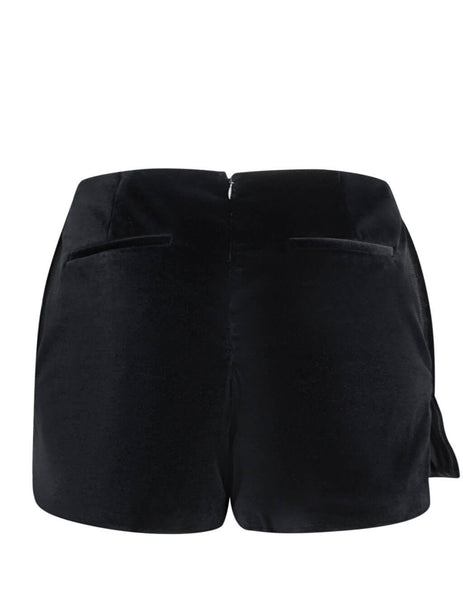 REDValentino Women's Giulio Fashion Black Frill Mini Skort SR0RFB9532E0NO