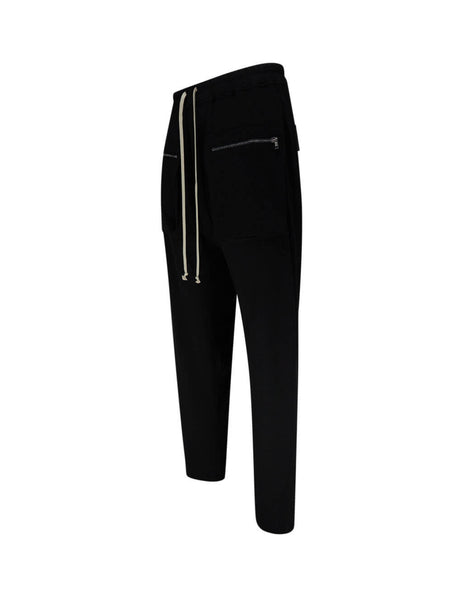 Rick Owens DRKSHDW Men's Giulio Fashion Black Cargo Drawstring Trousers DU20S5385RN-09