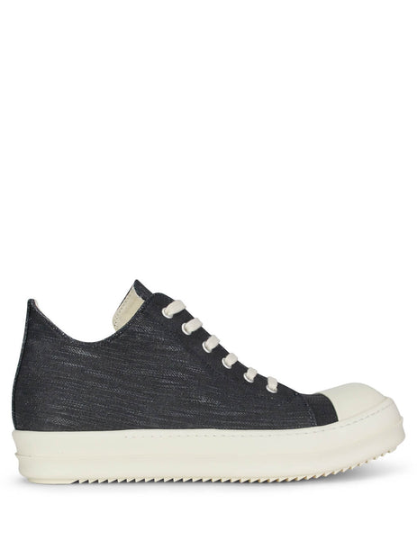 Rick Owens DRKSHDW Men's Giulio Fashion Black Denim Sneakers DU19F6802HDLQ09