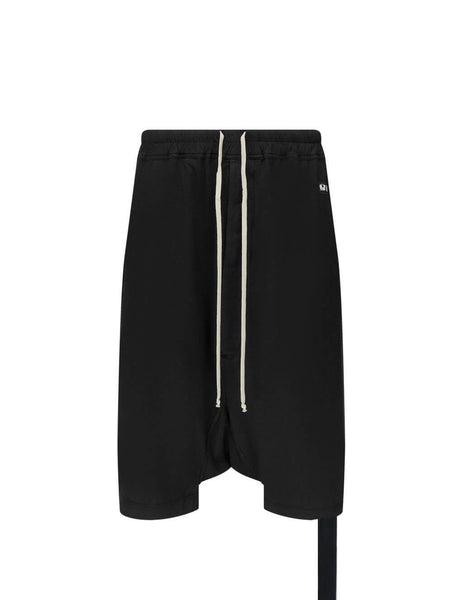 Men's Rick Owens DRKSHDW Drawstring Pods in Black - DU21S2380RN09