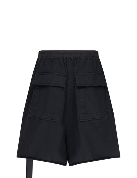 Men's Rick Owens DRKSHDW Faun Shorts in Black - DU21S2390RIG09