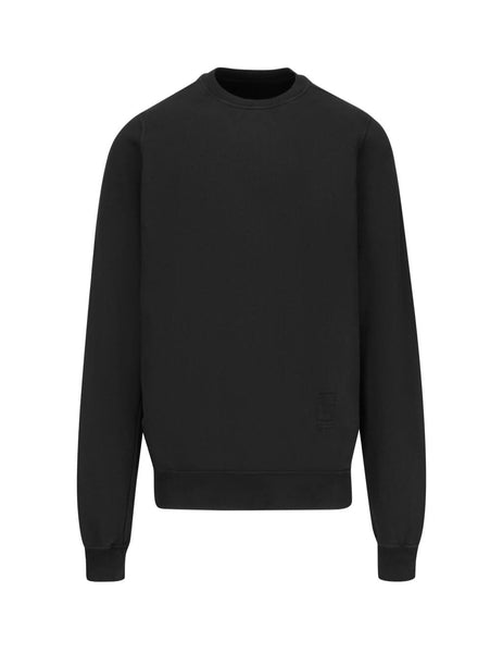 Rick Owens DRKSHDW Men's Giulio Fashion Black Fleece Sweatshirt DU19F6270F09