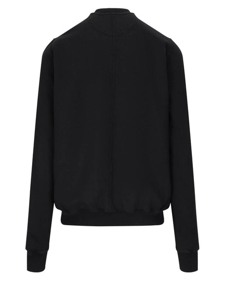 Men's Rick Owens DRKSHDW Granbury Crew Sweatshirt in Black - DU21S2283F09